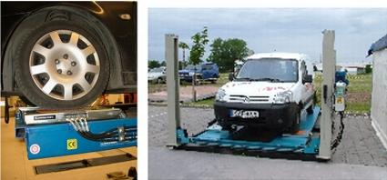 Детектор за луфтове в кормилна уредба и окачване на леки автомобили и микробуси DATE E 2H